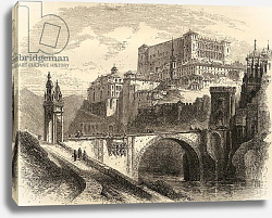 Постер Школа: Английская 19в. Toledo, Spain, illustration from 'Spanish Pictures' by the Rev. Samuel Manning