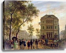 Постер Канелла Джузеппе Boulevard Saint-Martin and the Theatre de l'Ambigu, 1830