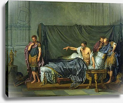 Постер Грёз Жан-Батист The Emperor Severus Rebuking his Son, Caracalla, for Wanting to Assassinate Him, 1769
