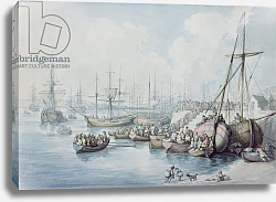 Постер Роуландсон Томас The Disembarkation of the Royalists of Toulon at Southampton in 1794