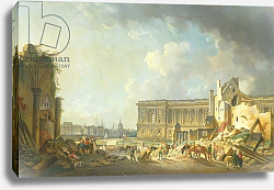 Постер Демаки Пьер Clearing the Colonnade of the Louvre, 1764
