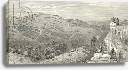 Постер Бартлетт Уильям (грав) The Mount of Olives, Jerusalem, from 'The Imperial Bible Dictionary', c.1880s