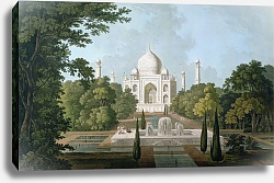 Постер Даниель Томас (грав) The Taj Mahal, Agra, from the Garden, published 1801