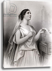 Постер Стаал Пьер (грав) Saint Cecilia, illustration from 'World Noted Women' by Mary Cowden Clarke, 1858