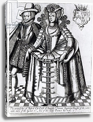 Постер Школа: Английская, 17в. Robert Carr, Earl of Somerset and his wife Frances Howard, engraved by Renold Elstrack, c.1615-16