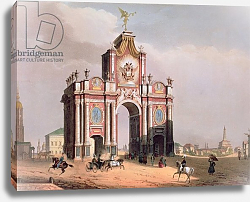 Постер Арнаут Луи (акв) The Red Gate in Moscow, printed by Lemercier, Paris, 1840s