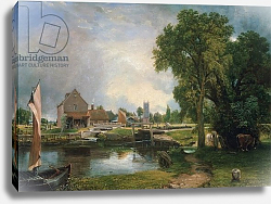 Постер Констебль Джон (John Constable) Dedham Lock and Mill, 1820