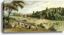 Постер Школа: Фламандская 17 в. The Thames at Richmond, with the Old Royal Palace, c.1620