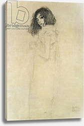 Постер Климт Густав (Gustav Klimt) Portrait of a young woman, 1896-97