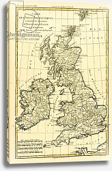 Постер Бонне Чарльз (карты) The British Isles, Including the Kingdoms of England, Scotland and Ireland, 1780