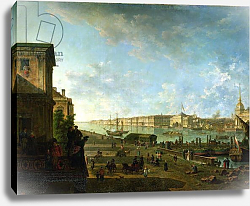 Постер Алексеев Федор The Admiralty and the Winter Palace viewed from the Military College, 1794