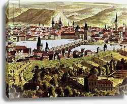 Постер Школа: Австрийская 18в. View of Prague