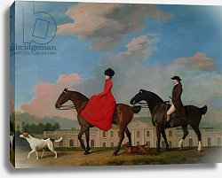 Постер Стаббс Джордж John and Sophia Musters riding at Colwick Hall, 1777