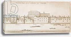 Постер Холлар Вецеслаус (грав) View of Whitehall, 1645