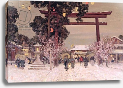 Постер Ист Альфред Сэр View of a Shinto Shrine, c.1889