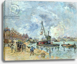 Постер Гуилаумин Арманд At the Quay de Bercy in Paris, 1874