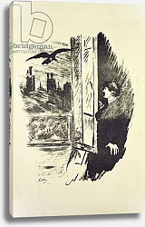 Постер Мане Эдуард (Edouard Manet) Illustration for 'The Raven', by Edgar Allen Poe, 1875