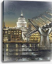 Постер Янг (совр) St Paul's and the Millennium Bridge, 2004