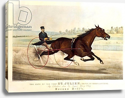 Постер Курье Н. The King of the Turf, 'St. Julien', driven by Orrin A. Hickok, 1880