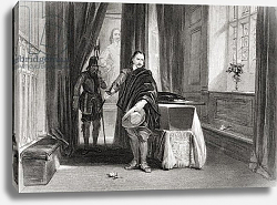 Постер Каттермол Джордж (грав) Cromwell viewing the body of Charles I, 1649, engraved by L. Stocks