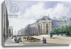 Постер Калло Вильям South-east Aspect of the 1862 Exhibition Building, looking along Cromwell Road