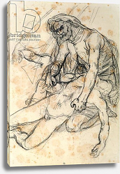 Постер Жерико Теодор A Father Holding the Body of his Son, study for The Raft of the Medusa