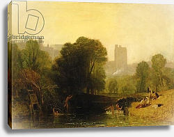 Постер Тернер Уильям (William Turner) Near the Thames Lock, Windsor, c.1809