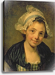 Постер Грёз Жан-Батист Girl in a Bonnet, 1760s