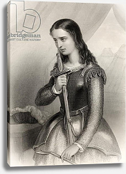 Постер Стаал Пьер (грав) Joan of Arc illustration from 'World Noted Women' by Mary Cowden Clarke, 1858