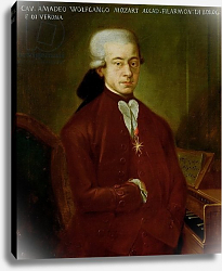 Постер Школа: Австрийская 18в. Portrait of Wolfgang Amadeus Mozart after 1770