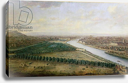 Постер Гревенброк Чарльз Paris, view from above the Champs-Elysees, c.1740