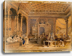 Постер Аллом Томас (грав) Interior of a Turkish Caffinet, Constantinople, 1838