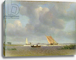 Постер Воллмер Адольф A fresh breeze on the Elbe, c.1830