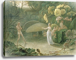 Постер Данби Франсис Oberon and Titania, A Midsummer Night's Dream, Act II, Scene I, by William Shakespeare, 1837
