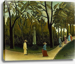 Постер Руссо Анри (Henri Rousseau) The Monument to Chopin in the Luxembourg Gardens, 1909