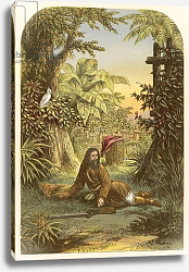 Постер Лидон Александр Robinson Crusoe awakened from sleep by his parrot