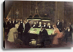 Постер Бакст Леон The Gaming Room at the Casino, 1889