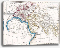 Постер Школа: Английская 19в. Map of Europe Northern Africa and Western Asia, from 'The Atlas of Ancient Geography', c.1829