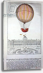 Постер Школа: Немецкая 18в. The Flight of Jacques Charles and Nicholas Robert from the Jardin des Tuileries, 1st December, 1783