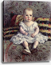 Постер Кайботт Гюстав (Gustave Caillebotte) Child on a sofa, 1885