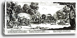 Постер Калло Жак The Attack on the Stagecoach, plate 8 from 'The Miseries and Misfortunes of War',  1633