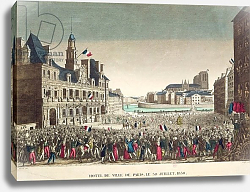 Постер Мавский (19в) The Arrival of the Duke of Orleans at the Hotel de Ville, 31st July 1830, engraved by Cropin