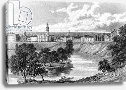 Постер Весталл Уильям (грав) Salford from the Crescent, from 'Great Britain Illustrated', engraved by Edward Francis, 1830