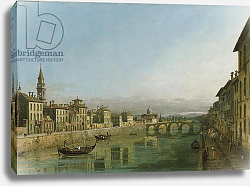 Постер The Arno in Florence with the Ponte alla Carraia, c.1745
