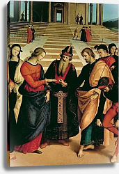 Постер Рафаэль (Raphael Santi) The Marriage of the Virgin, 1504