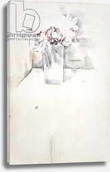 Постер Сезанн Поль (Paul Cezanne) PD.6-1966v Vase of flowers on a window ledge, c.1890