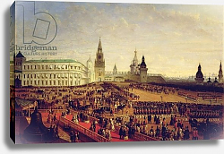 Постер Шварц Густав Military parade during the Coronation of Alexander II in the Moscow Kremlin, 1856