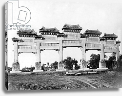 Постер Неизвестен Marble gate of the north entrance of the Tombs of the Ming Dynasty, Peking, China