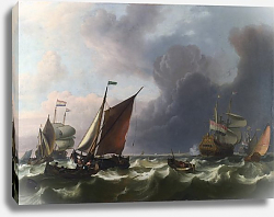 Постер Бахуйзен Людольф Dutch Men-of-war off Enkhuizen