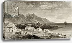 Постер Гамильтон Джеймс Fiskenaes from the Governor's House, engraved by A.W. Graham, 1856